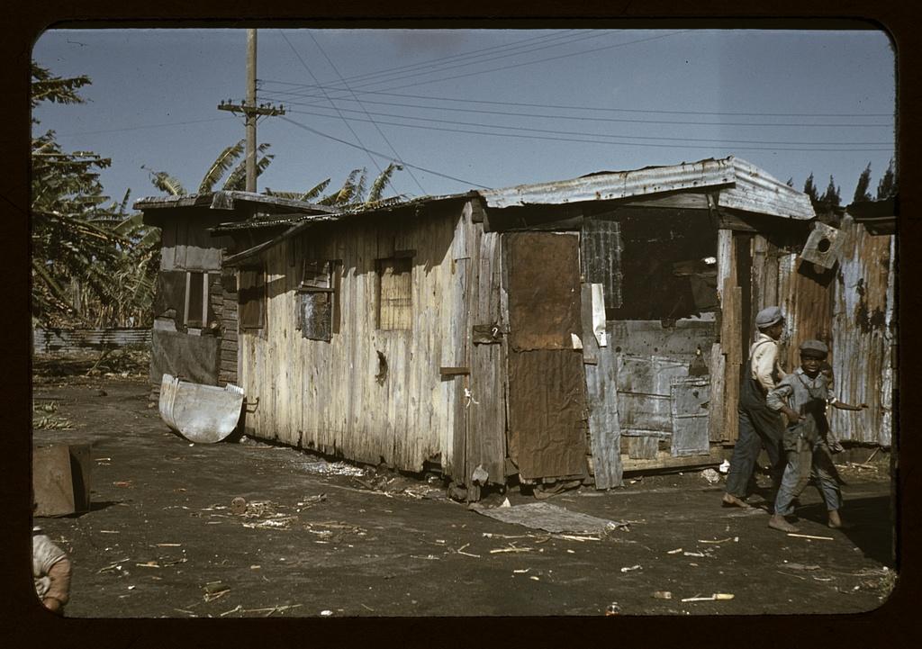 Shacks of Negro migratory workers