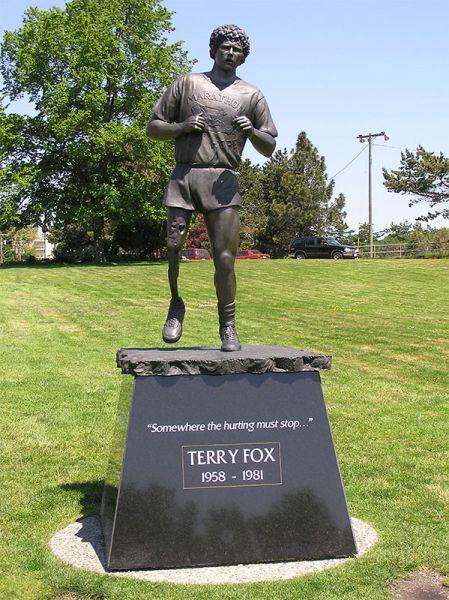 Terry Fox-Denkmal im Beacon Hill Park in Victoria, British Columbia